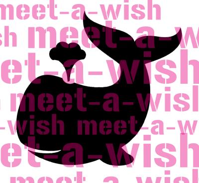 Glitzertattoo und Airbrush Schablone - Wal