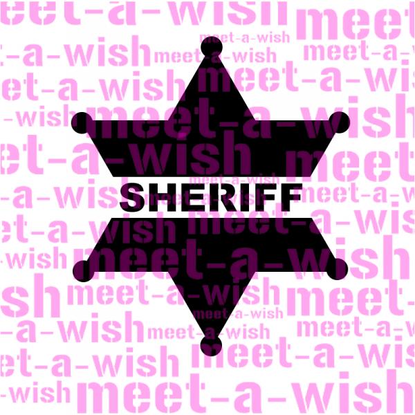 Glitzertattoo und Airbrush Schablone - Sheriff