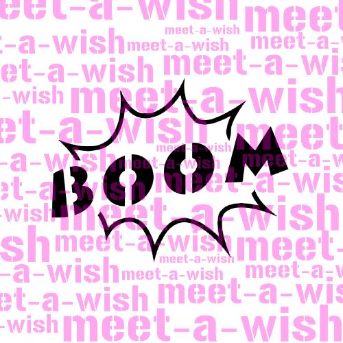 Glitzertattoo und Airbrush Schablone - Boom
