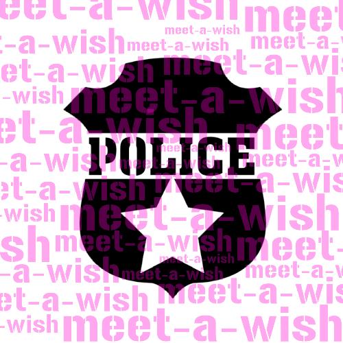 Glitzertattoo und Airbrush Schablone - Polizeimarke
