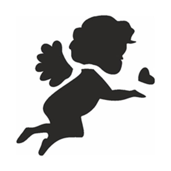 Glitzertattoo und Airbrush Schablone - Engelchen