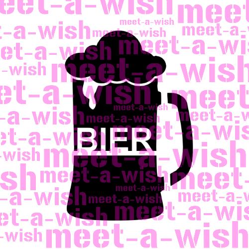 Glitzertattoo und Airbrush Schablone - Bierkrug