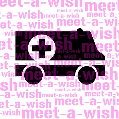 Glitzertattoo und Airbrush Schablone - Rettungswagen