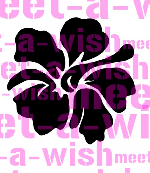Glitzertattoo und Airbrush Schablone - Blume