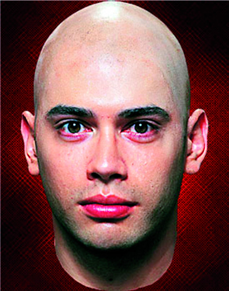 Latex Maske Glatze