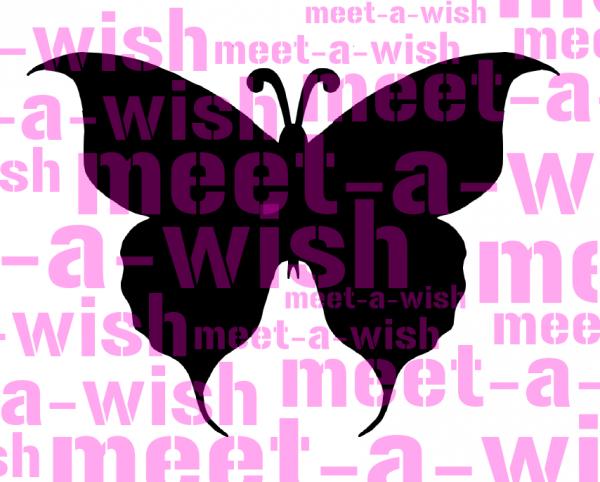 Glitzertattoo und Airbrush Schablone - Schmetterling