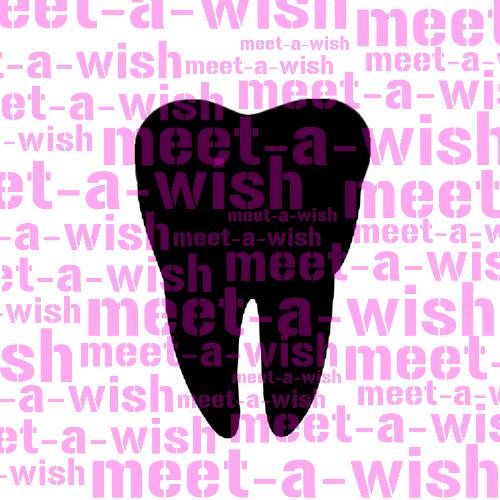 Glitzertattoo und Airbrush Schablone - Zahn