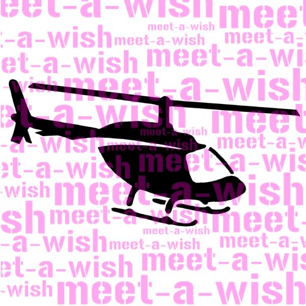 Glitzertattoo und Airbrush Schablone - Hubschrauber