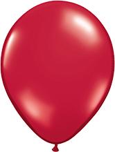 Luftballon - Ø 12,5cm - Crystal Rubin Rot
