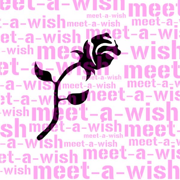 Glitzertattoo und Airbrush Schablone - Rose