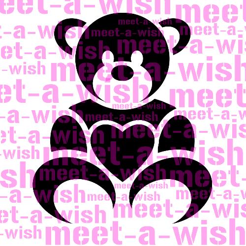 Glitzertattoo und Airbrush Schablone - Teddy in Love