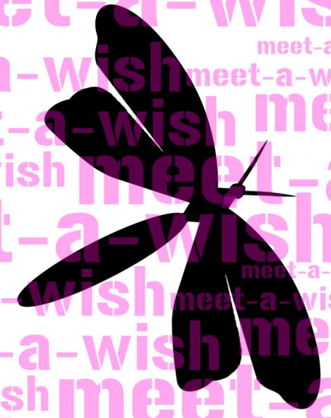 Glitzertattoo und Airbrush Schablone - Libelle