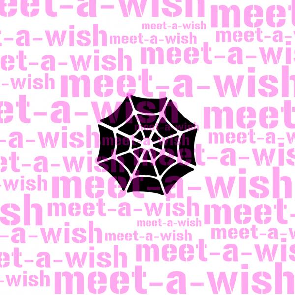 Glitzertattoo und Airbrush Schablone - Spinnennetz