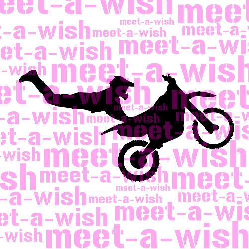 Glitzertattoo und Airbrush Schablone - Motorcross