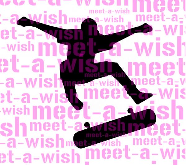 Glitzertattoo und Airbrush Schablone - Skater