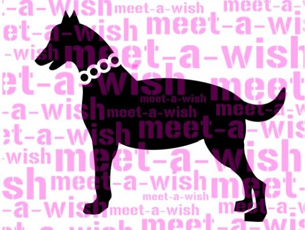 Glitzertattoo und Airbrush Schablone - Hund