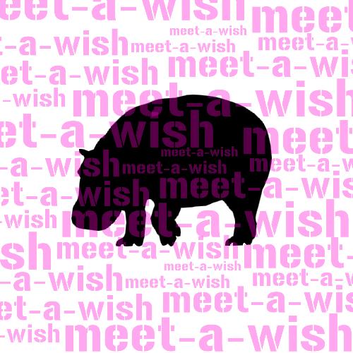 Glitzertattoo und Airbrush Schablone - Nilpferd