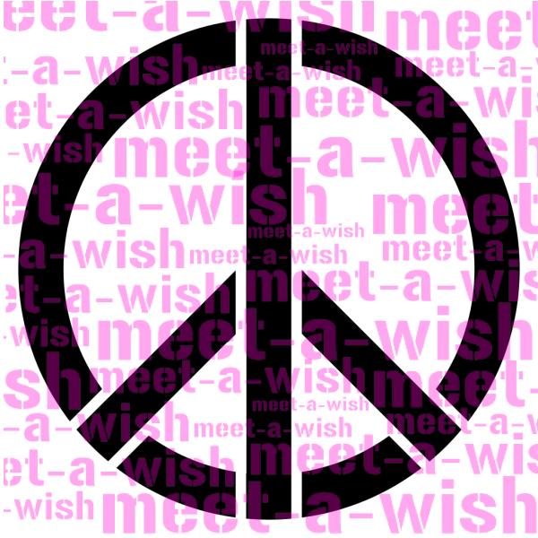 Glitzertattoo und Airbrush Schablone - Peace