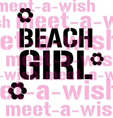 Glitzertattoo und Airbrush Schablone - Beach Girl