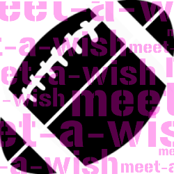 Glitzertattoo und Airbrush Schablone - Football