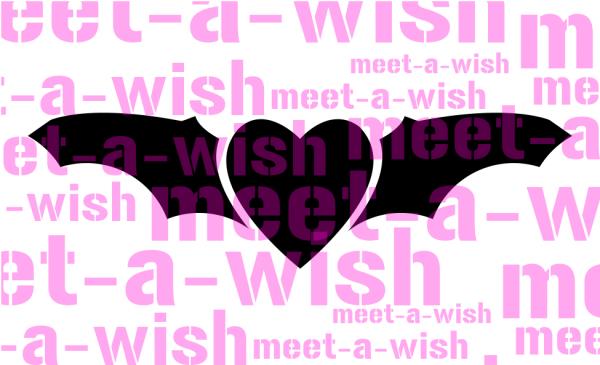 Glitzertattoo und Airbrush Schablone - Fledermaus in Love