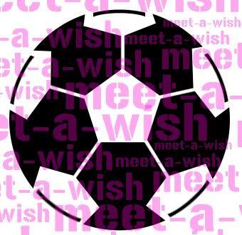 Glitzertattoo und Airbrush Schablone - Fussball