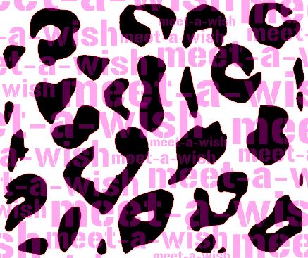 Glitzertattoo und Airbrush Schablone - Leopard
