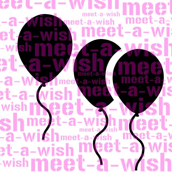 Glitzertattoo und Airbrush Schablone - Luftballon