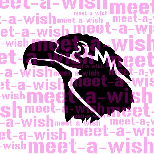 Glitzertattoo und Airbrush Schablone - Adler