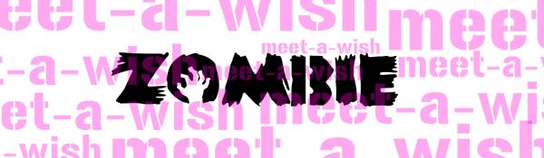 Glitzertattoo und Airbrush Schablone - Zombie