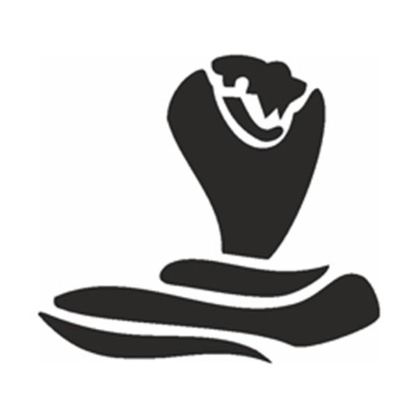 Glitzertattoo und Airbrush Schablone - Kobra