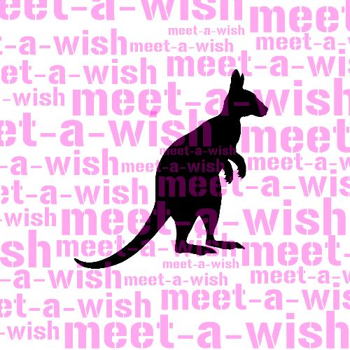 Glitzertattoo und Airbrush Schablone - Kangaroo