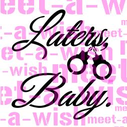 Glitzertattoo und Airbrush Schablone - Laters Baby