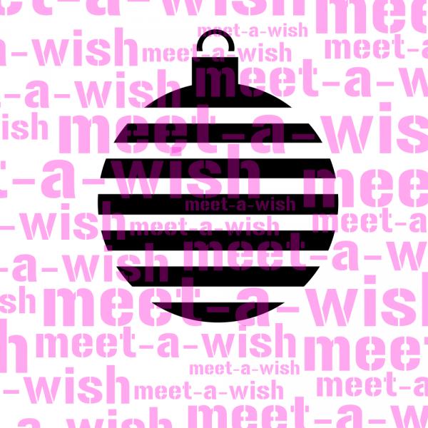 Glitzertattoo und Airbrush Schablone - Weihnachtskugel