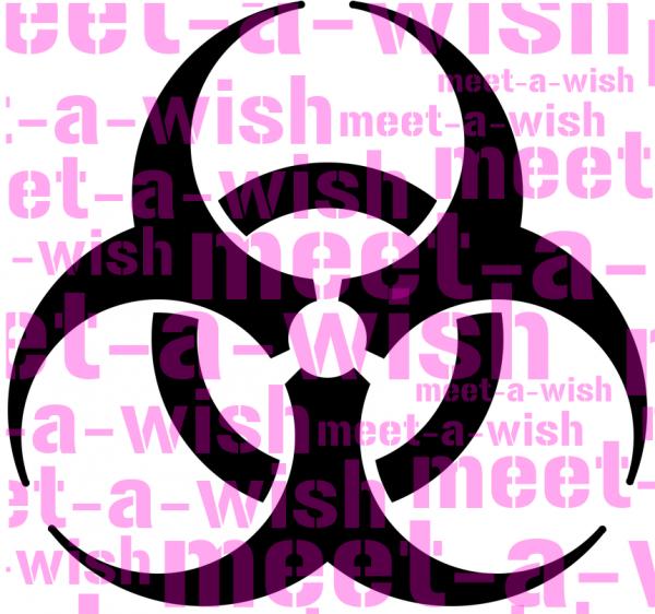 Glitzertattoo und Airbrush Schablone - Biohazard