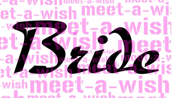 Glitzertattoo und Airbrush Schablone - Bride
