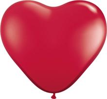 Herzballons - Ø 30cm - Crystal Rubin Rot