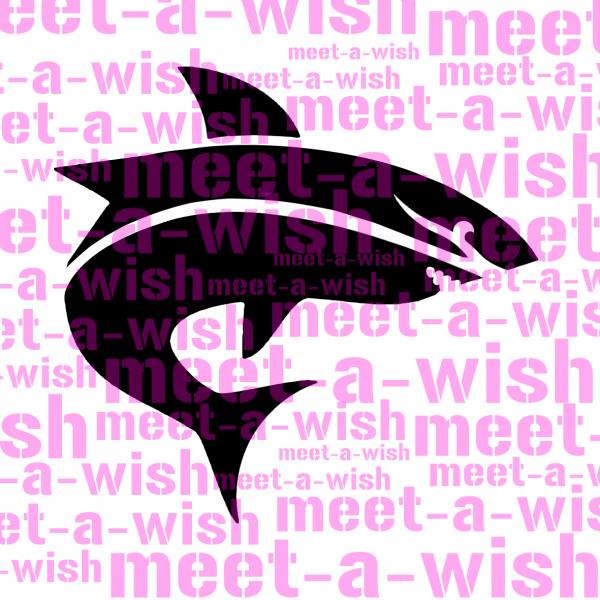 Glitzertattoo und Airbrush Schablone - Hai