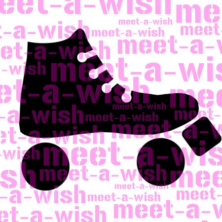 Glitzertattoo und Airbrush Schablone - Roller Skater
