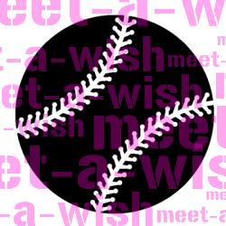 Glitzertattoo und Airbrush Schablone - Baseball