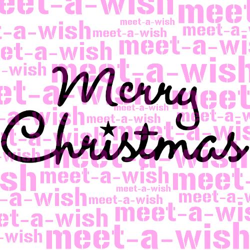 Glitzertattoo und Airbrush Schablone - Merry Christmas