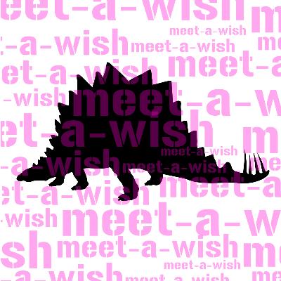 Glitzertattoo und Airbrush Schablone - Dino